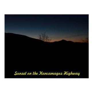 Puesta del sol sobre la carretera de Kancamagus Postal