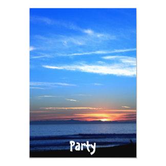 Puesta del sol sobre la isla de Santa Cruz Invitaciones Personalizada