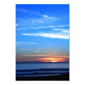 Puesta del sol sobre la isla de Santa Cruz Invitacion Personal