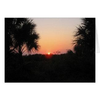 Puesta del sol sobre las dunas, isla de Marco, la  Tarjeta