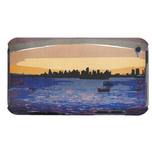 Puesta del sol sobre Miami iPod Touch Carcasas