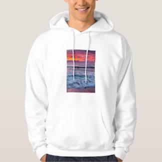 Puesta del sol sobre olas oceánicas, California Sudadera