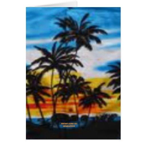 Puesta del sol tropical (impresión de la hawaiana  felicitaciones