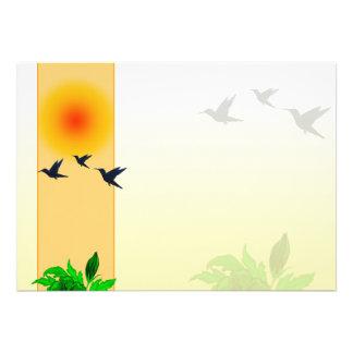 Puesta del sol - vuelo del pájaro anuncios personalizados