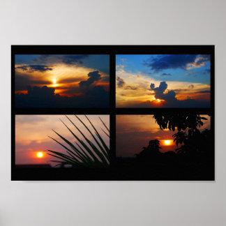 Puestas del sol de nuestro poster del tejado póster