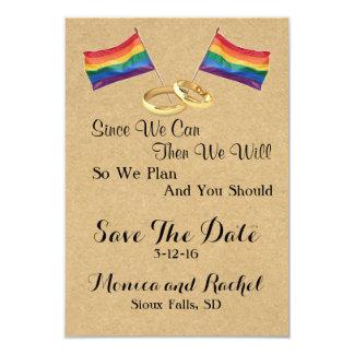 Puesto que podemos:  Reserva lesbiana del boda las Invitación 8,9 X 12,7 Cm