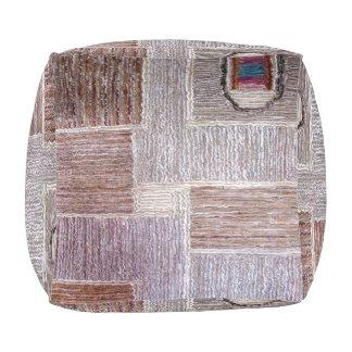 Puf Arte de cuero original de la alfombra