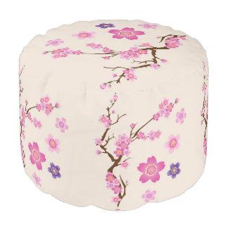 Puf Arte de la flor de cerezo