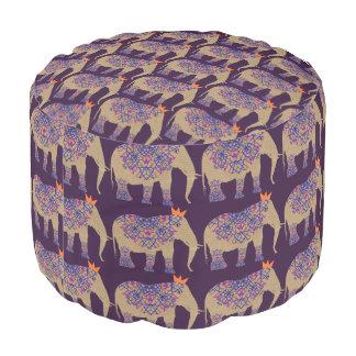 Puf Bonito banal lindo adornado del elefante modelado