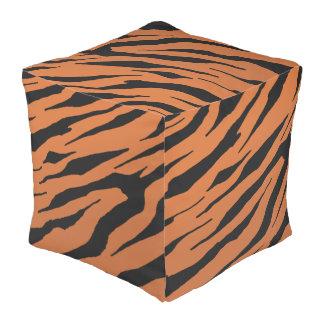 Puf del cubo de la raya del tigre
