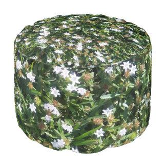 Puf Diseño floral blanco precioso de la impresión de