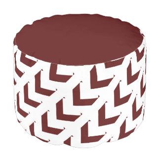 Puf Diseño marrón y blanco intrépido de Chevron