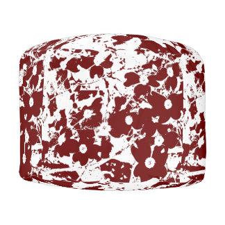 Puf Diseño rojo y blanco de la cabaña
