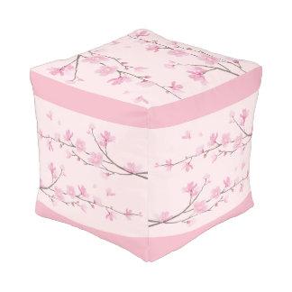 Puf Flor de cerezo - rosa