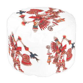 Puf Guerrero azteca del shaman del baile