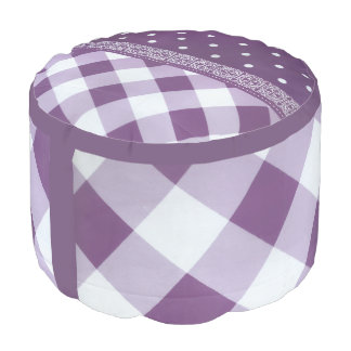 Puf Hogar escocés feliz del diseño de la tela escocesa
