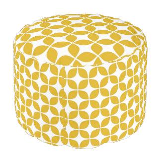 Puf impresión amarilla de 70s Cheveron