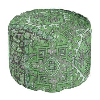 Puf Impresión de la alfombra oriental antigua en verde