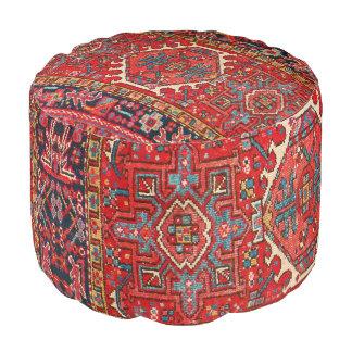 Puf Impresión oriental antigua de la alfombra turca o