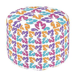 Puf Las hojas modelan el taburete redondo tejido del