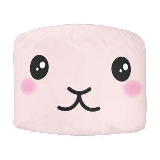 Puf Lindo, kawaii, diseño rosado del conejito