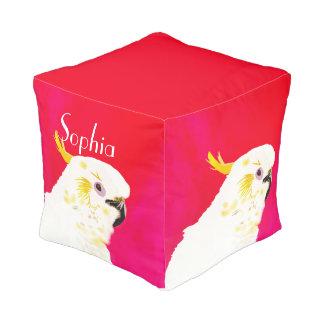 Puf Pájaro rosado del Cockatoo de los niños
