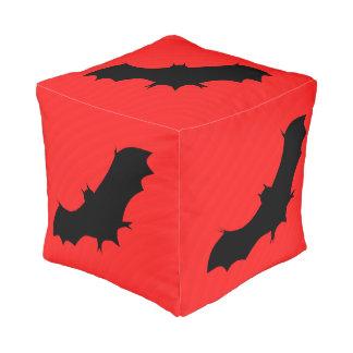 Puf Palo de Halloween en rojo