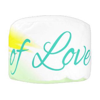 Puf Puentes del diseño del color de texto del amor