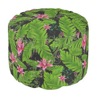 Puf Silla casera tropical Seat del taburete de la