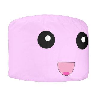 Puf Silla redonda rosada linda del Beanbag del