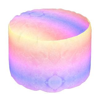 Puf Taburete de la textura del mármol de los colores