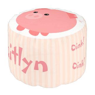 Puf Taburete rechoncho rosado lindo del escabel del