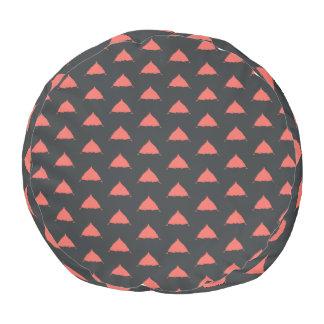 Puf Taburete redondo del modelo rojo y negro