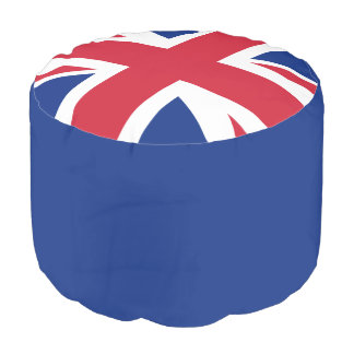 Puf Taburete redondo tejido Union Jack del algodón