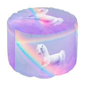 Puf Unicornio y arco iris