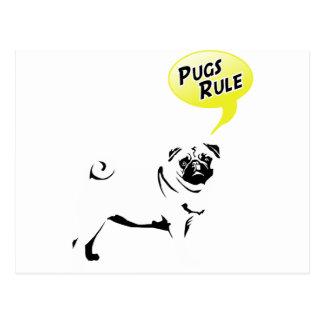 Pug Rules Tarjetas Postales