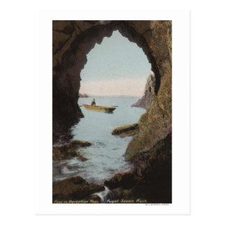 Puget Sound, WA - cueva en el engaño Postal