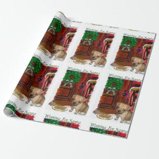 Puggle que aguarda navidad papel de regalo