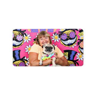 Pugstock 2015 - Cocos de Lulu - barros amasados Etiqueta De Dirección