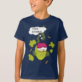 Pulga divertido la camiseta de la historieta de la