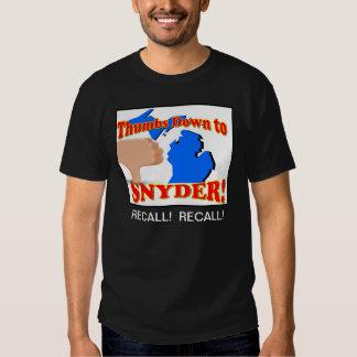 Pulgares abajo a Rick Snyder Camisas