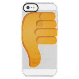 Pulgares abajo Emoji Funda Transparente Para iPhone SE/5/5s