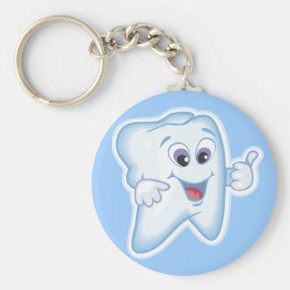 ¡Pulgares para arriba para la higiene dental! Llavero Redondo Tipo Chapa