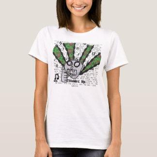 Pulgares para arriba para la música (señoras) camiseta
