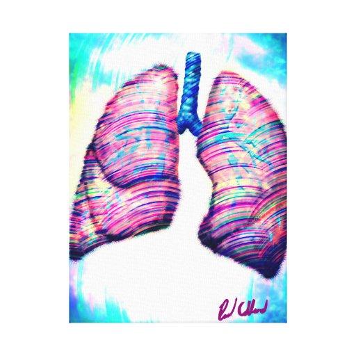 Pulmones Impresiones En Lona Estiradas