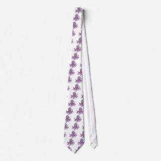 Pulpo cómico en blanco corbata personalizada