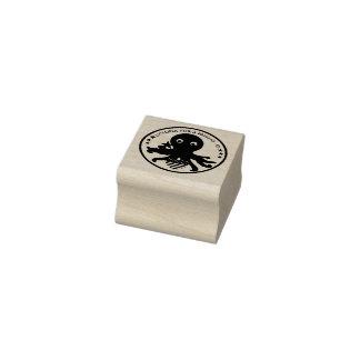 Pulpo de goma sólido del sello del logotipo para