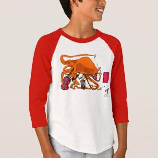 pulpo juguetón camiseta