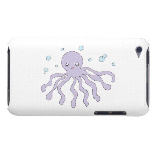 Pulpo púrpura lindo iPod Case-Mate carcasa