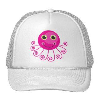 Pulpo rosado gorras de camionero